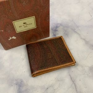 ETRO bifold paisley canvas wallet